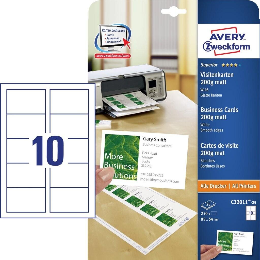 Wizytówki Quick Clean C32011 25 Avery Zweckform