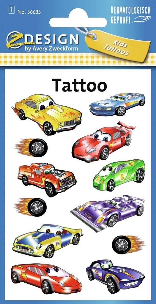 Tatuaże Dla Dzieci Samochody 56685 Avery Zweckform