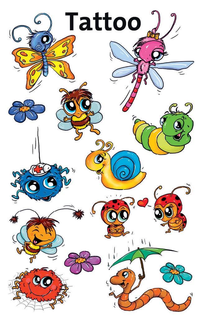 Tatuaże Dla Dzieci Robaki 56737 Avery Zweckform