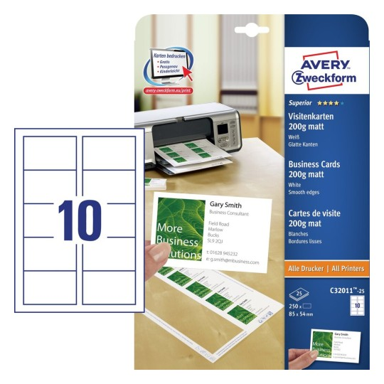 Wizytówki Avery Zweckform